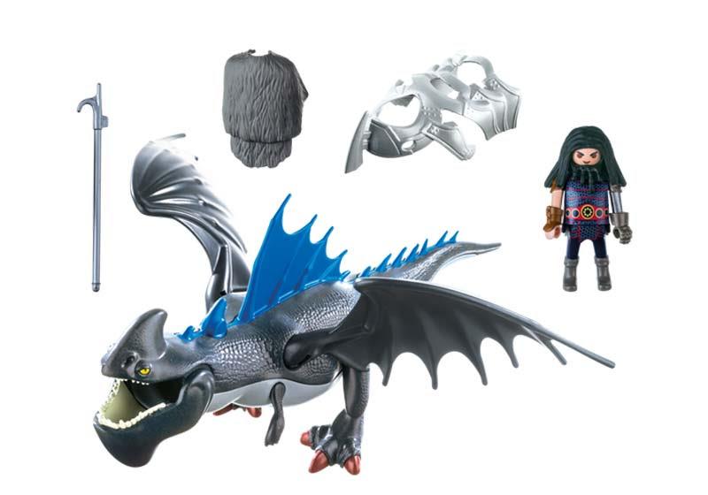 Contenido Real de Playmobil® 9248 Drago y Dragón con Armadura