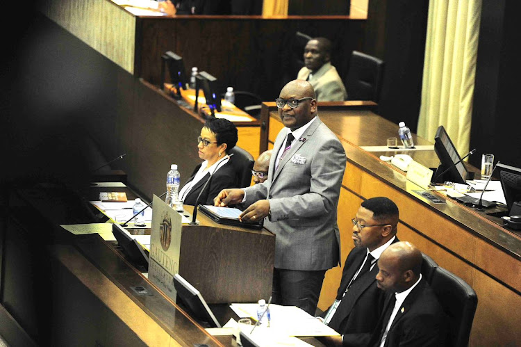 Gauteng Premier David Makhura during his state of the province address.