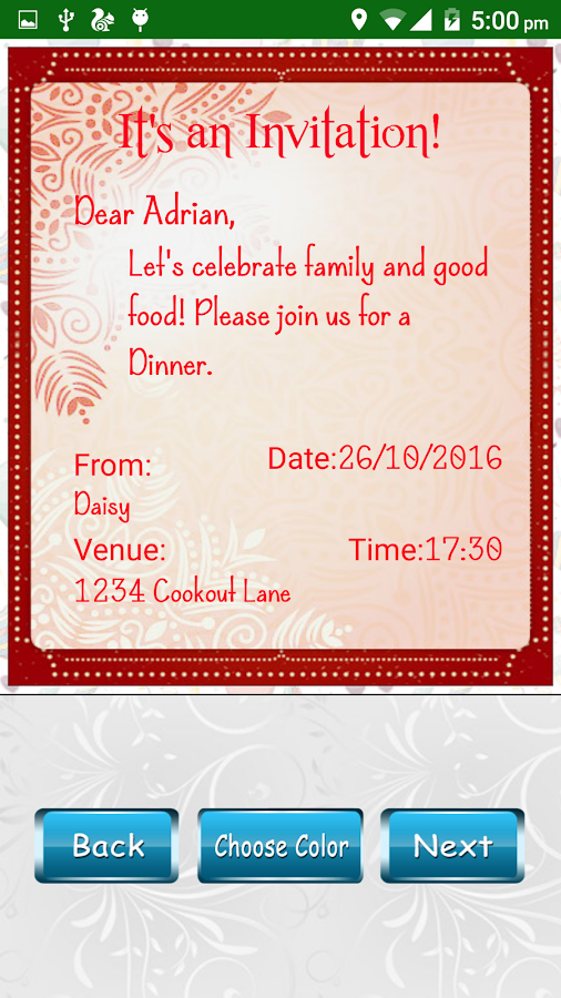 Party invitation card designer android apps on google play party invitation card designer screenshot stopboris Images