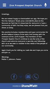 Zion Prospect Baptist Church for PC-Windows 7,8,10 and Mac apk screenshot 2