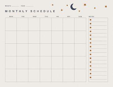 Lunar Month - Planner Template
