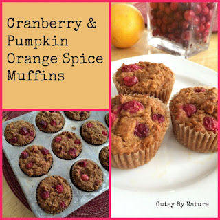 Cranberry Pumpkin Orange Spice Muffins (Grain Free, Dairy Free, Nut Free)