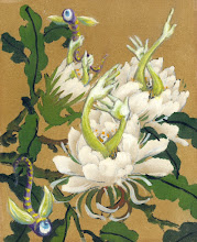 """Photo: """"Hungry Peonies"""" 3 1/4"""" X 4""""  sold"""