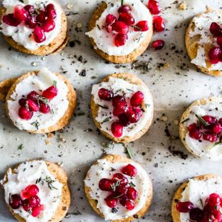 Whipped Goat Cheese Pomegranate Bites