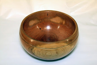 "Photo: Joe Barnard 10"" x 5"" bowl [cherry]"