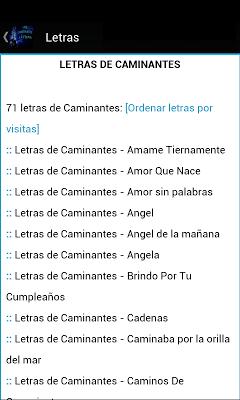 Los Caminantes Letras - screenshot