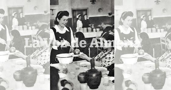 Las 'niñas' que servían en el Auxilio Social