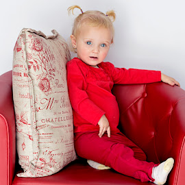 Little Princess by Belinda  Burger - Babies & Children Child Portraits ( studio, red, daughter, baby, portrait )