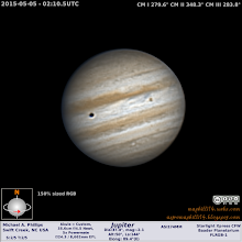 Photo: From earlier this week, and the 1st time out in nearly 6 weeks because of the pollen and tons of bad weather.  Now TS Ana is just depressing me to new lows!  I was actually happy to find Io in transit as I had done no planning at all.  QUITE windy this night and VERY poor conditions.
