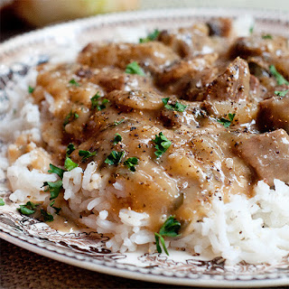 Creamy Steak and Mushrooms