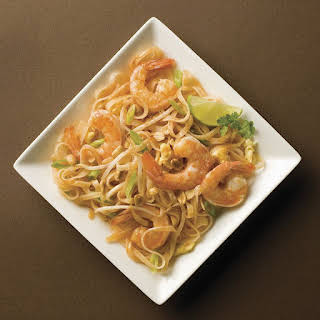 Traditional Pad Thai Noodles.