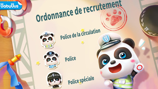 Policier Baby Panda  captures d'écran 1