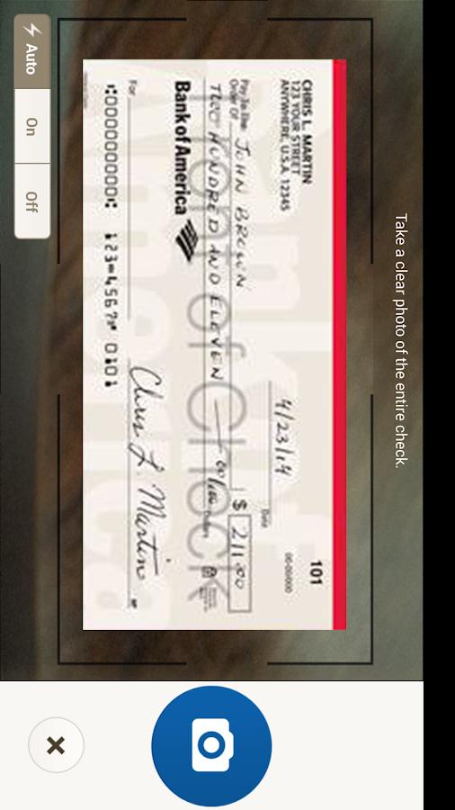 Bank of America - screenshot