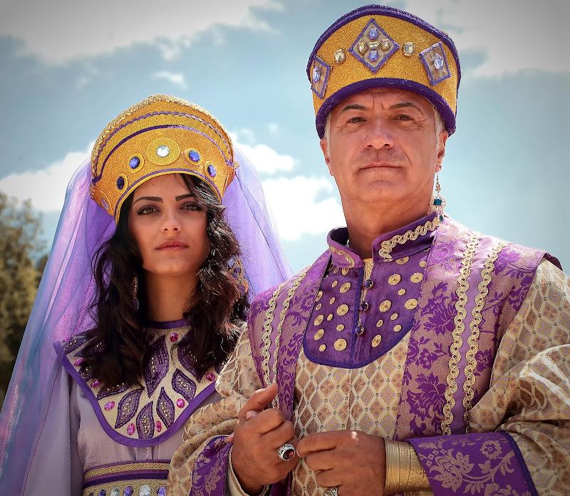 Una coppia regale di romano