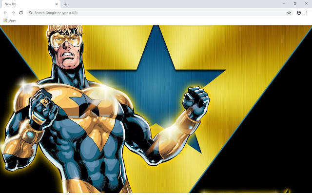 Booster Gold New Tab & Wallpapers Collection