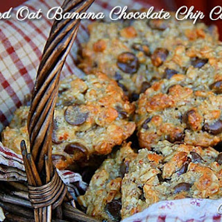 Oatmeal Almond Banana Chocolate Chip Cookies