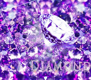 Purple Diamond Glitter Theme - náhled