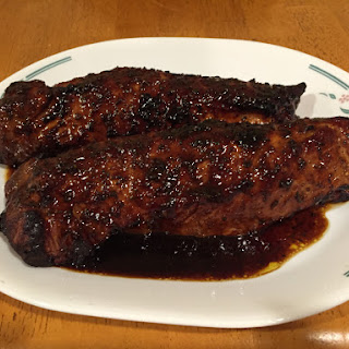 Planked Rosemary Pork Tenderloin With Dark Chocolate Balsamic and Orange
