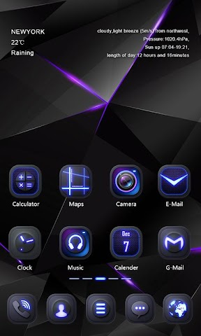 android Darkness GO Launcher Theme Screenshot 1