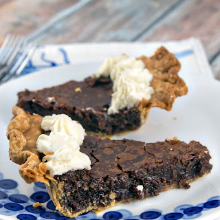 Gooey Chocolate Brownie Pie.