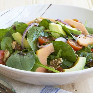 Spinach, Walnut and Papaya Salad