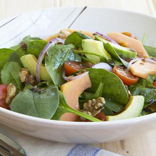 Spinach, Walnut and Papaya Salad.