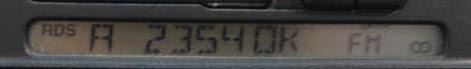 Photo: Servisni menu STB. Konkretne miniFM transmiter STB s RDS enkoderem vysila informaci o prave prijimane DRM stanice, ze jeji bitstream je 23.5kbps v modu A (vetsinou pro kratke vlny s 10kHz radiokanalem s SBR a Parametric Stereem).