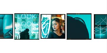 Triple Look Frame - Collage Template