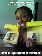 """Photo: """"I won two Invicta Watches! One retails at $595.00 and I got it for $1.07. The other watch retails at $295.00 and I got it for only $0.10!!!! I also won a Swarovski Crystal Ring (on my finger in the picture) for a penny!!! My husband and I love QuiBids! We wait until the last second when we think the other bidders are about to quit and we go for it. I have also won a diamond necklace, gift cards, voucher bids, and Gameplays. QuiBids is awesome! I look there before I get anything at retail value."""" – Asya H. – QuiBidder of the Week http://bit.ly/Jz1bAn"""