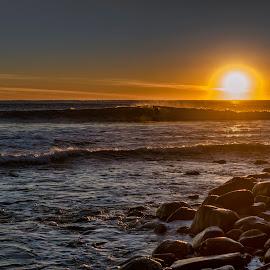Point Danger sunrise, Torquay, Vic. by Ron Rainbow - Uncategorized All Uncategorized