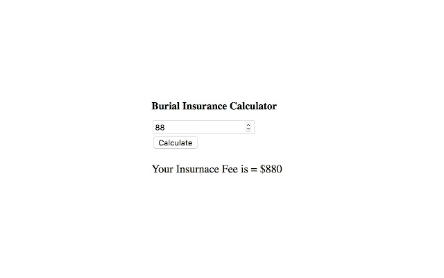 Burial Insurance Calculator