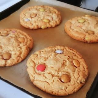 Peanut Butter Smarties Cookies.