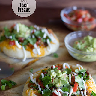 Loaded Mini Taco Pizzas.