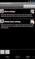 Screenshot of VoiceTimeSignal Pro