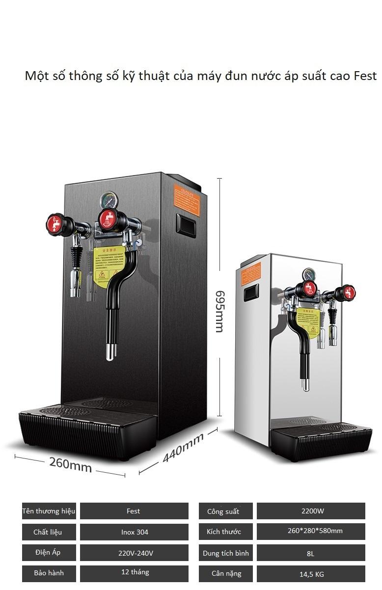 Máy đun nước áp suất cao Fest RC-800H - ảnh 5
