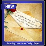Amazing Love Letter Design Paper icon