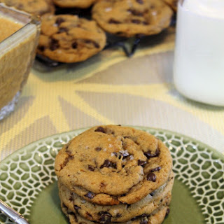 SALTED CARAMEL PEANUT BUTTER CHOCOLATE CHIP COOKIES.