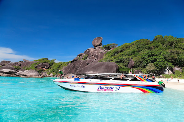 Cruise by speed boat to the Similan Islands in less than 80 minutes