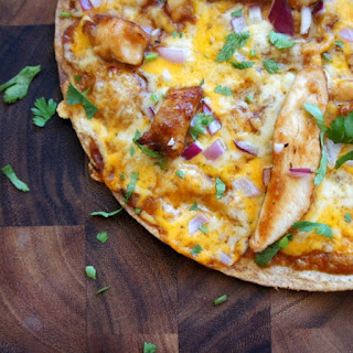 BBQ Chicken Tortilla Pizza