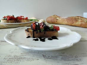 Photo: Bruschetta - An Italian appetizer made of fresh toasted bread topped with fresh tomatoes, basil and Parmesan cheese.  http://www.peanutbutterandpeppers.com/2013/04/02/the-making-of-bruschetta/  #bruschetta   #italianrecipes   #tomatoeandbasil   #tomatoes   #basil   #appetizerrecipes   #howtomakebruschetta   #frenchbread