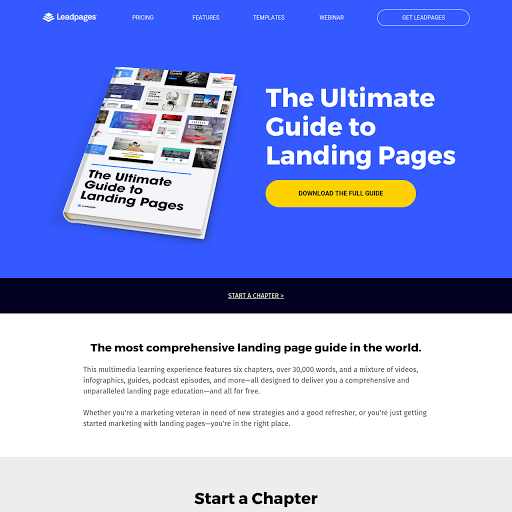 Website Landing Page Templates from Leadpages