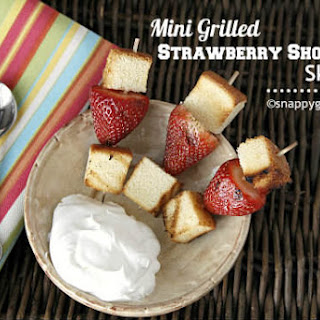Mini Grilled Strawberry Shortcake Skewers