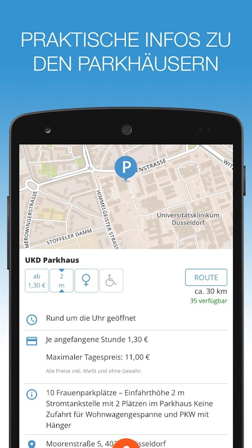 evopark – bargeldlos parken- screenshot