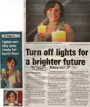 Photo: My local MP asked me to speak to the media about Earth Hour. I thought I'd get some of my vegan tips printed, but no. Wasn't impressed really, but it was exactly the reporter's brief, so what should I really expect?  The Reporter March 28 2012  http://leigh-chantelle.com/news/179-interview-with-the-reporter-about-earth-hour.html