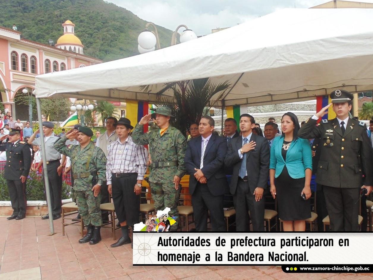 AUTORIDADES DE PREFECTURA PARTICIPARON EN HOMENAJE  A LA BANDERA NACIONAL