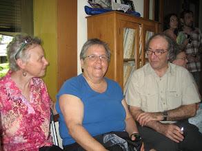 Photo: Kathy, partner of Phyllis Robinson (middle), Tony Stretton