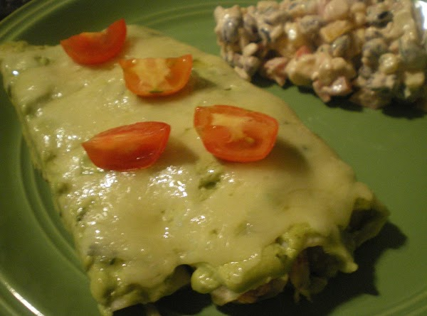 Smoked Chicken Enchiladas With That Green Sauce Recipe
