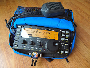 Photo: Case holds KX3 ready to operate
