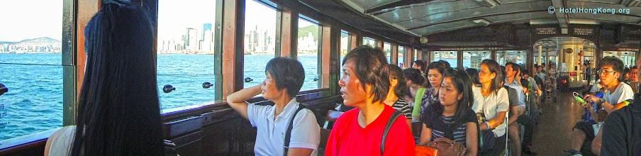Photo: Aboard Hong Kong Ferry