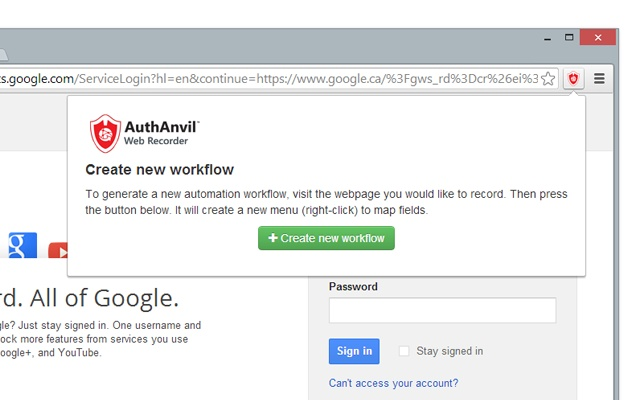 AuthAnvil Web Recorder